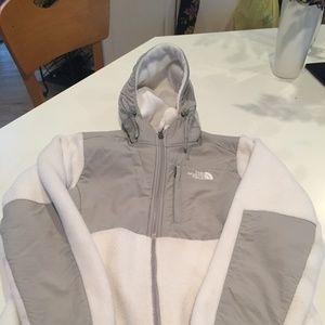 White Fleece North Face Jacket